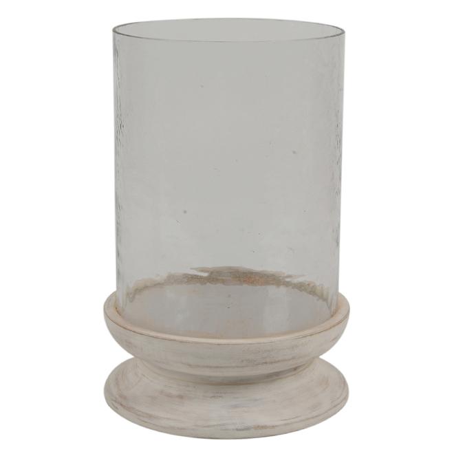 Allen + Roth Lanterne en verre « Garden Party », 13, blanc délavé JJ-18-17675