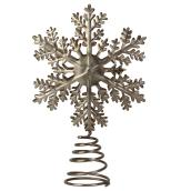 Christmas Tree Topper - Snowflake - Steel - Silver