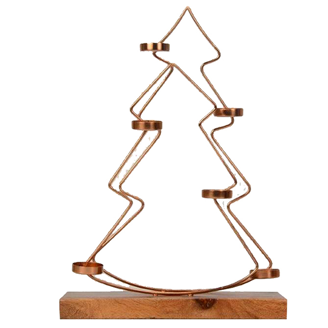 Tree-Shaped Candle Holder - 6 Tealights - 16''