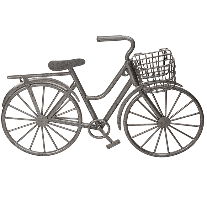 Allen + Roth Bike Wall Art - 29.75-in - Galvanized Steel