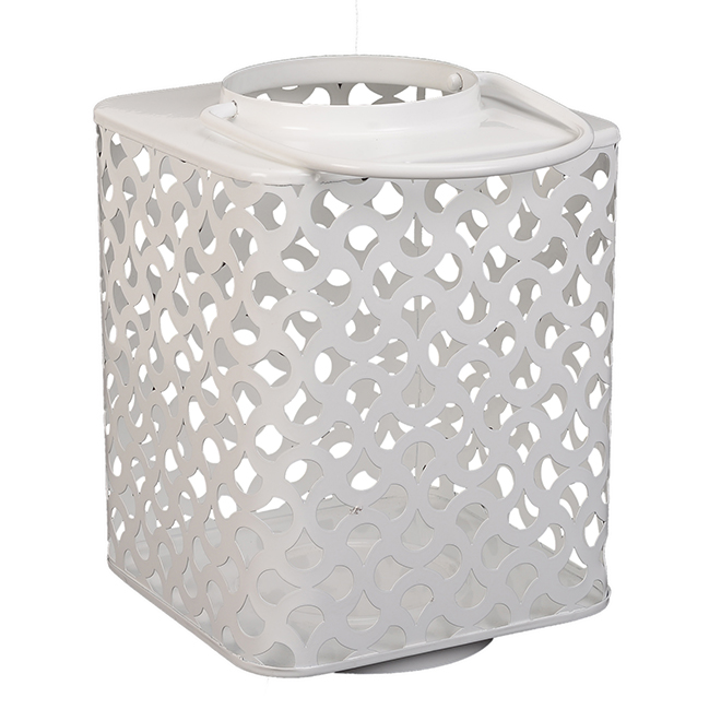 Lanterne Allen + Roth, 9 po, acier doux, blanc