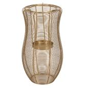 Allen + Roth Hurricane Lantern - 12.25-in - Mild Steel - Gold