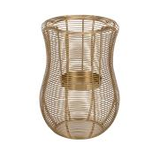 Allen + Roth Hurricane Lantern - 9-in - Mild Steel - Gold