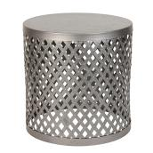 Allen + Roth Westbrook Round Side Table - 17.5-in - Galvanized