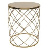 allen + roth Trellis Plant Stand - Metal - 20.2-in - Gold