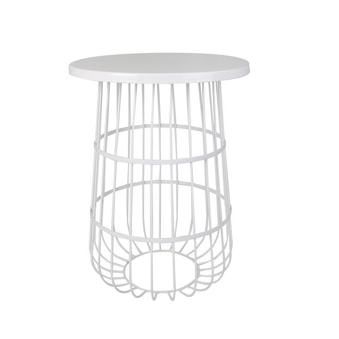 Allen + Roth Trellis Plant Stand - Metal - 21-in - White