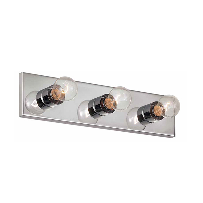 "Vanity Light - 3 Lights - 18"" - Steel - Chrome"
