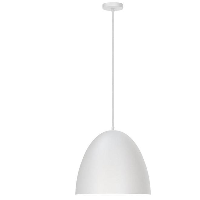 "Pendant Light - 1 Light - Dome - 16.75"" - White"