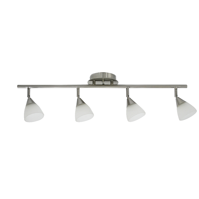 "Project Source Track Light - 4 Lights - 30"" - White/Nickel"