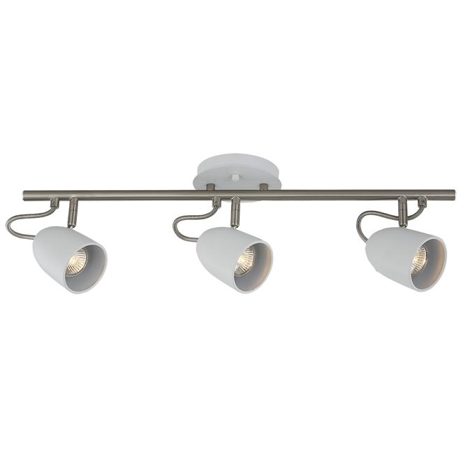 """Track Light - 3 Lights - 25"""" - Steel - Chrome/Matte White"""