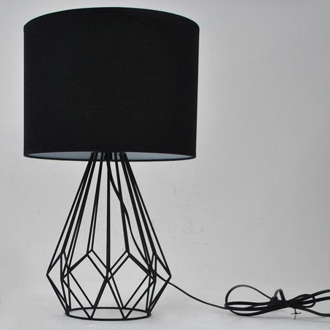 Allen + Roth Table Lamp - Steel and Fabric - 12.5-in x 20.65-in - Bronze/Black