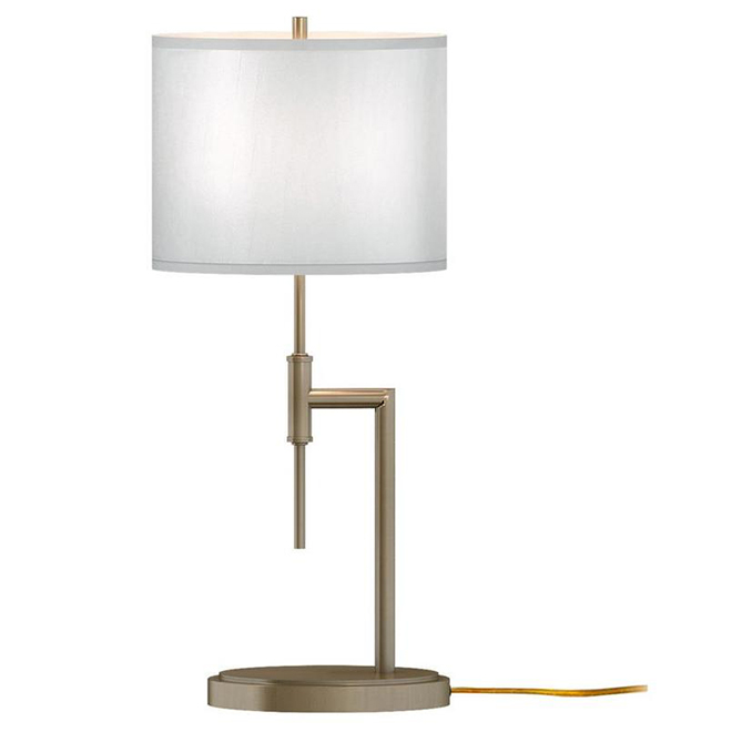 Allen + Roth Table Lamp - Steel and Fabric - 11-in x 25.6-in - Soft Gold