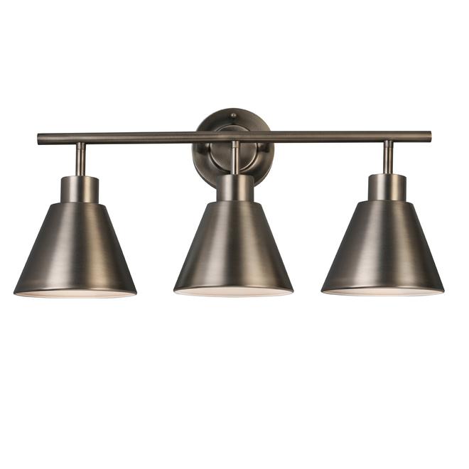 Luminaire mural de salle de bain au style transitoire à 3 ampoules par Project Source, métal, 22 po, couleur bronze