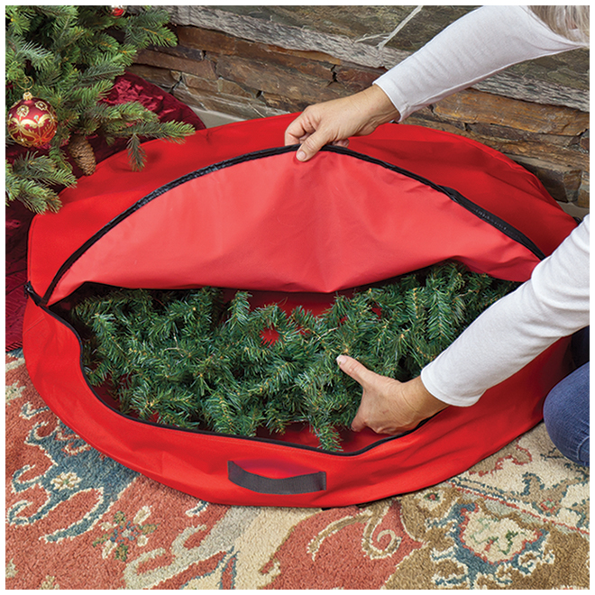 Simple Living 36-in Wreath Storage Bag - Polyester