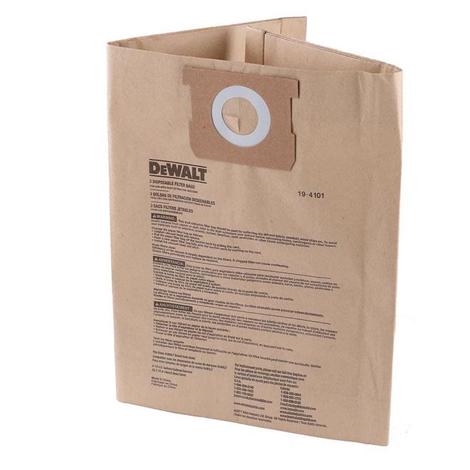 DeWalt Disposable Vacuum Bags - 6 to 10-gal. - Paper - 3-Pack