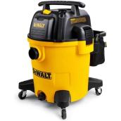Dewalt Wet and Dry 12-Gal. 5.5 HP Plastic Vacuum, Black/Yellow, Cartridge Filter and Accessory Bag Included