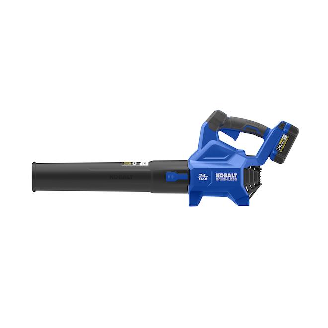 Kobalt Kobalt 24V Lithium ion 500 CFM Brushless Cordless Electric Leaf Blower KHB 4224A-03
