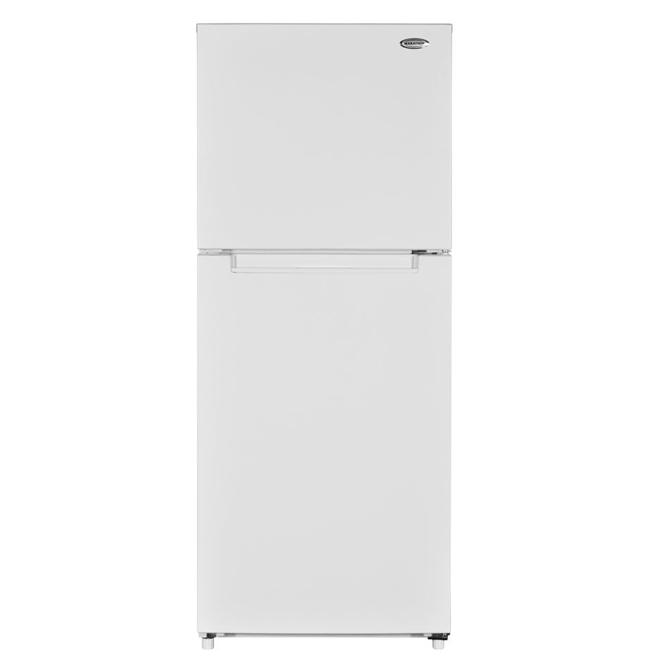 Réfrigérateur avec congélateur supérieur 12 pi.cu blanc