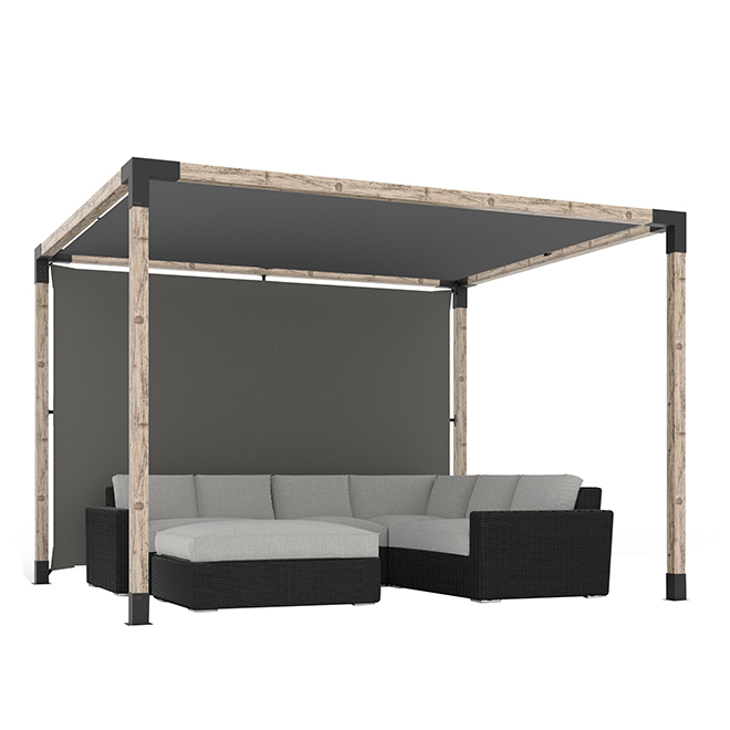 Canvas for Toja Grid Pergolas - 8' x 8' - Graphite