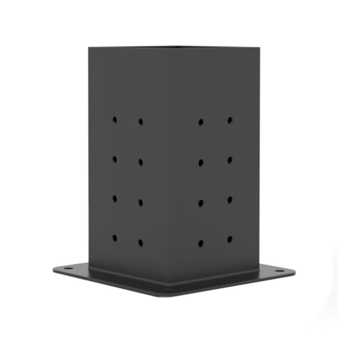 "Toja Grid Pergola Post Plates - Steel - 4"" x 4"" - 4 Pack"