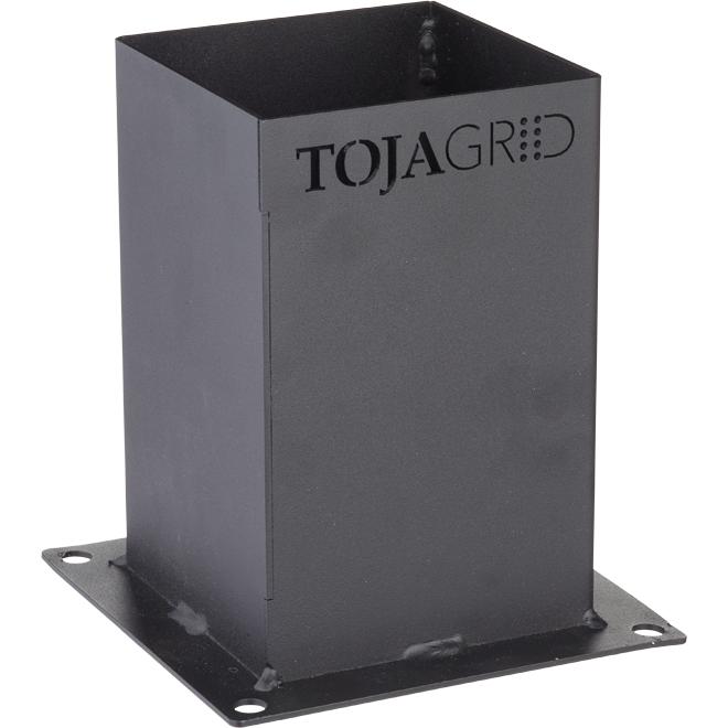 Braquette de base pour pergolas Toja Grid, noir mat, 4/pqt