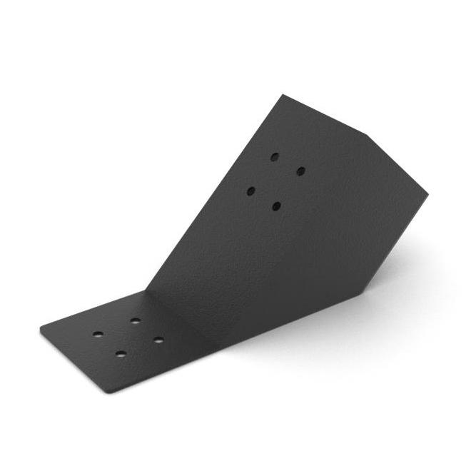 45 Degree Knee Bracket - 4-ft x 4-ft Wood Posts - Pack of 2  Black