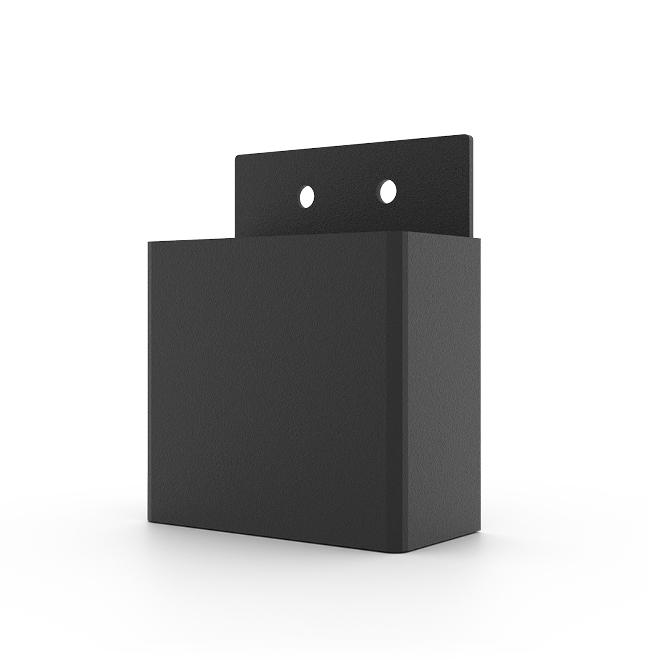 Toja Grid Pergola Side Brackets - 2-ft x 4-ft Wood Posts - Pack of 8 - Black