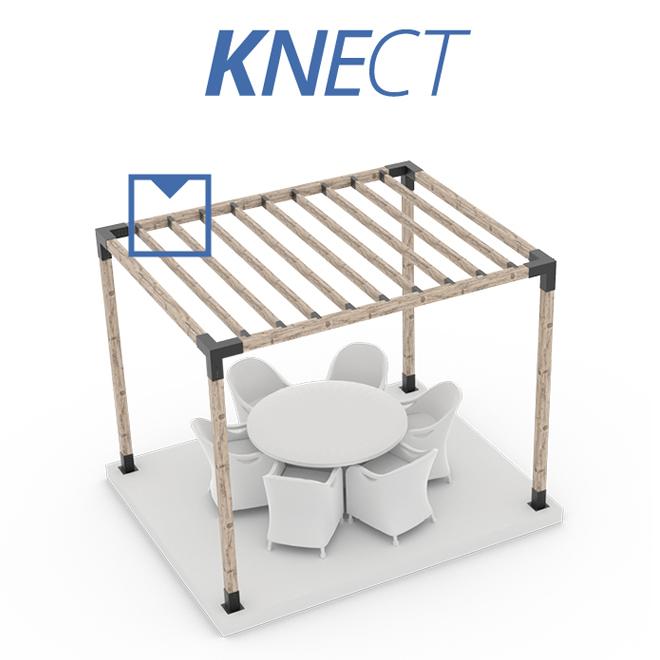 Toja Grid - Top Rafter Brackets - Steel - 2-ft x 6-ft posts - Pack of 8 - Black