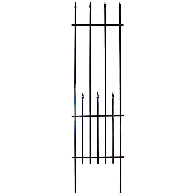 Finial Trellis - Tubular Steel - 17.2'' x 60'' - Black