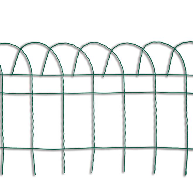 """Clôture en fil d'acier Garden Accents, rouleau, 14"""" x 20', vert"""