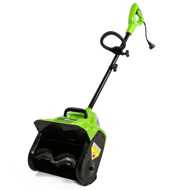 """Electric Snow Shovel - 12"""" - Green and Black"""