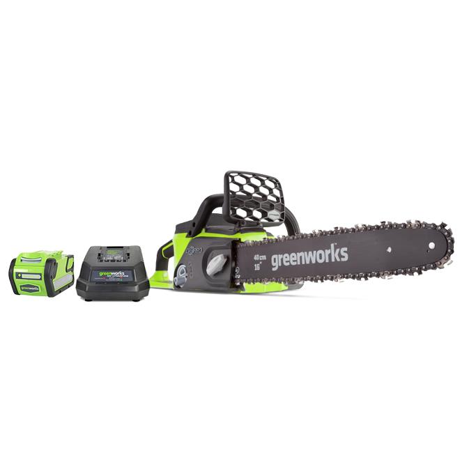 """Brushless Chainsaw - Cordless - 16"""" - 40 V"""