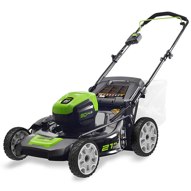 Greenworks 3-in-1 Cordless Lawnmower - 21-in- Lithium - 80 V 2506902