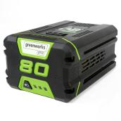 Greenworks 80 V Lithium-Ion Battery - 2.0 Ah - Green/Black