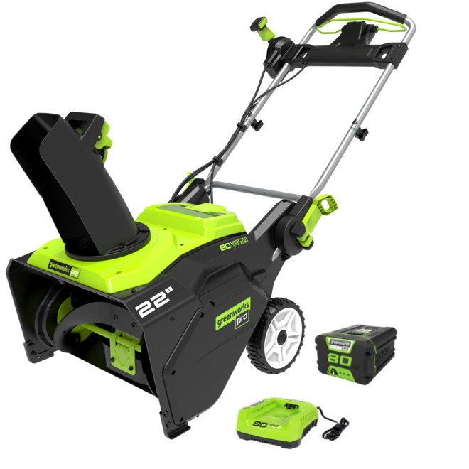 Greenworks Cordless Snow Thrower - 80 V - 22-in 2605902