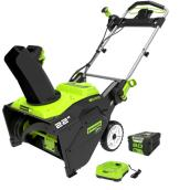 Greenworks Cordless Snow Thrower - 80 V - 22-in