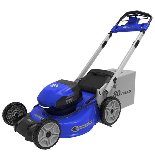 Tondeuse autopropulsée Kobalt avec batterie 80 V, plateau de 21 po, bleu