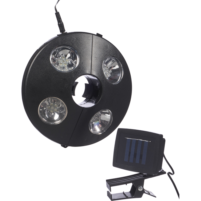 Fusion Products Umbrella Solar Lamp - White LEDs - Black Plastic