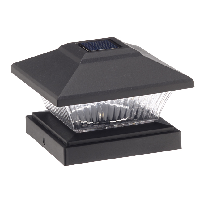 Fusion Products Solar Post Cap Light - Black - 4-Pack
