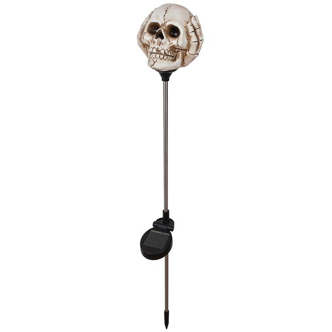 Solar Stick Light - Skull - Polyresin