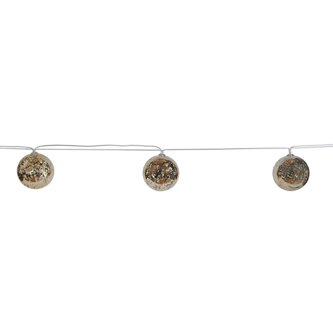 Fusion Products String Lights with 10 LED Lights - 13-ft - Mercury Gold
