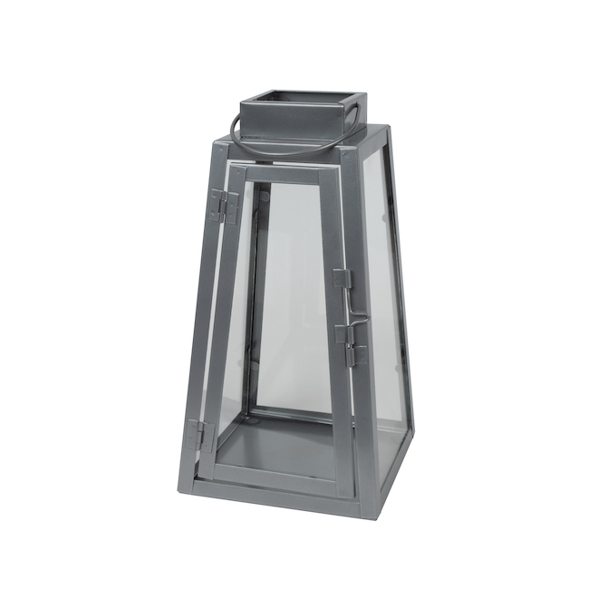 Fusion Products Triangle Lantern - Metal - 9-in - Silver