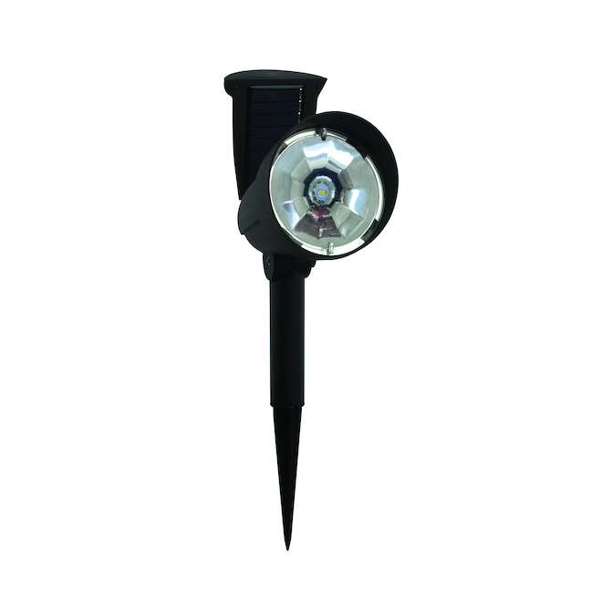 Fusion Products Solar Spotlights with Hinged Panels - 12 V - Black - 2/Pack