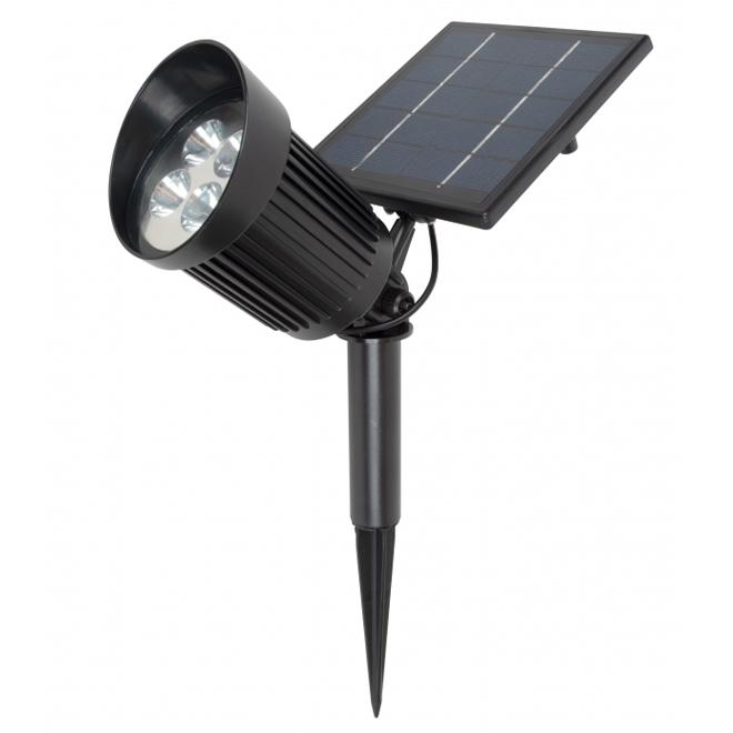 Projecteurs solaires Fusion Products, 12 V, noir, 6/pqt