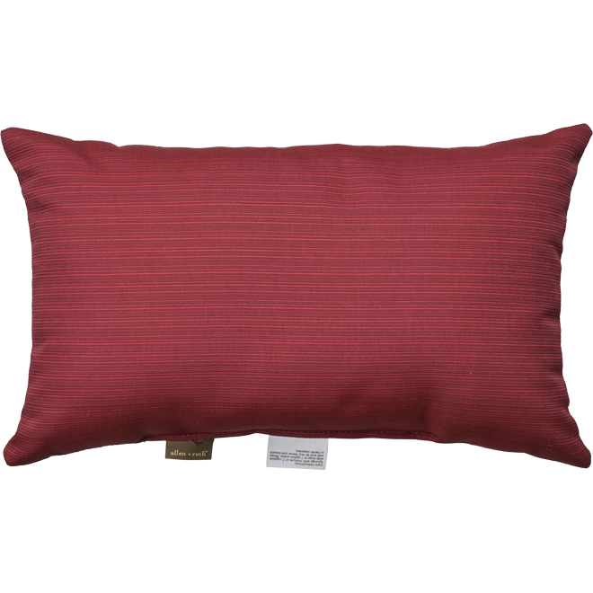 Allen + Roth Lumbar Cushion - Olefin Fabric - 12 x 20 x 4.5-in - Red