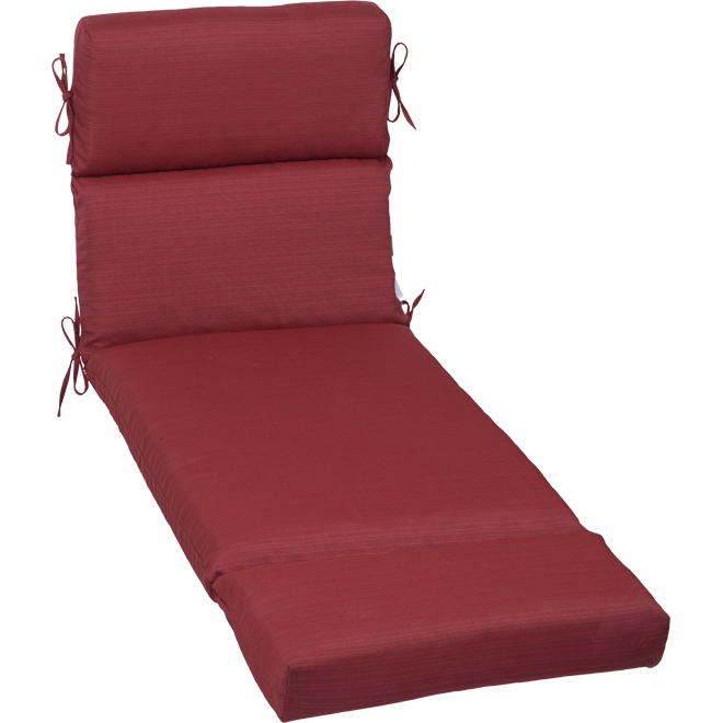 allen + roth Lounger Chair Cushion - Olefin Fabric - 73-in x 23-in x 4.5-in - Red