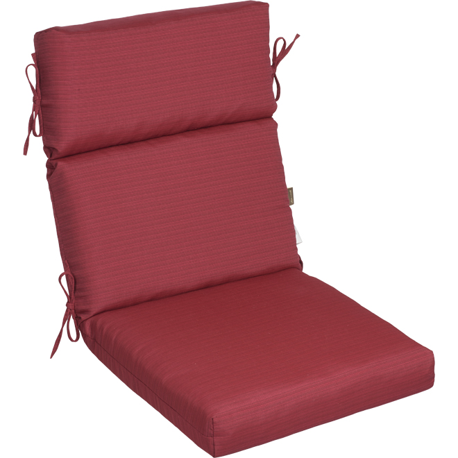 allen + roth Chair Cushion - High Back - 44-in x 21-in x 4.5-in - Red