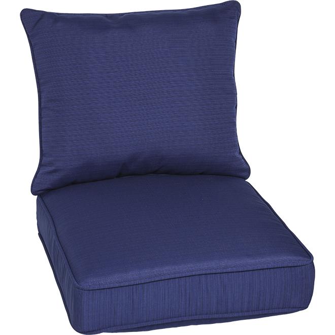 Chair Cushion - Deep Seat - Premium Olefin - 46-in x 25-in x 6-in - Navy