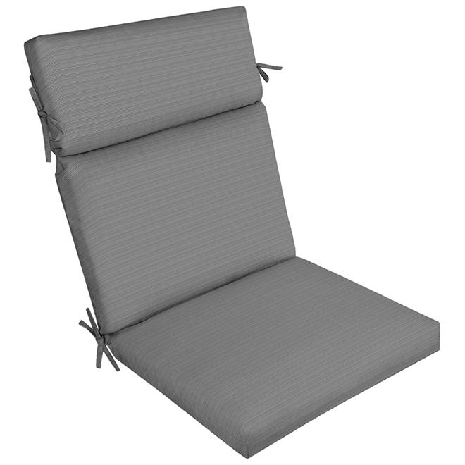 Coussin de chaise allen + roth, oléfine, 44 po x 21 po, gris