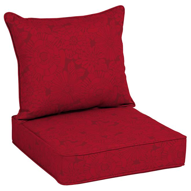 Allen + Roth Cushion Chair - 46'' x 25'' x 6'' - Red